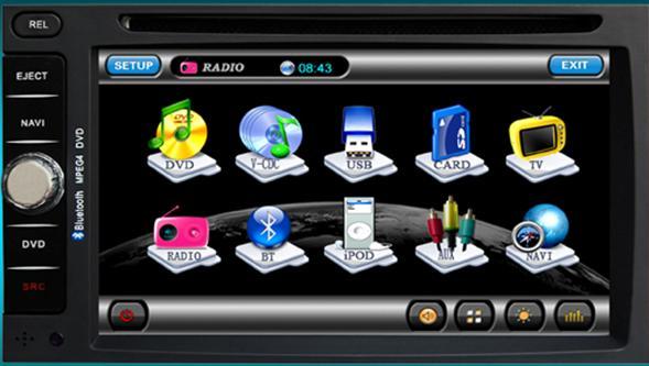 Sistem navigatie GPS + DVD + TV TTi-6903i
