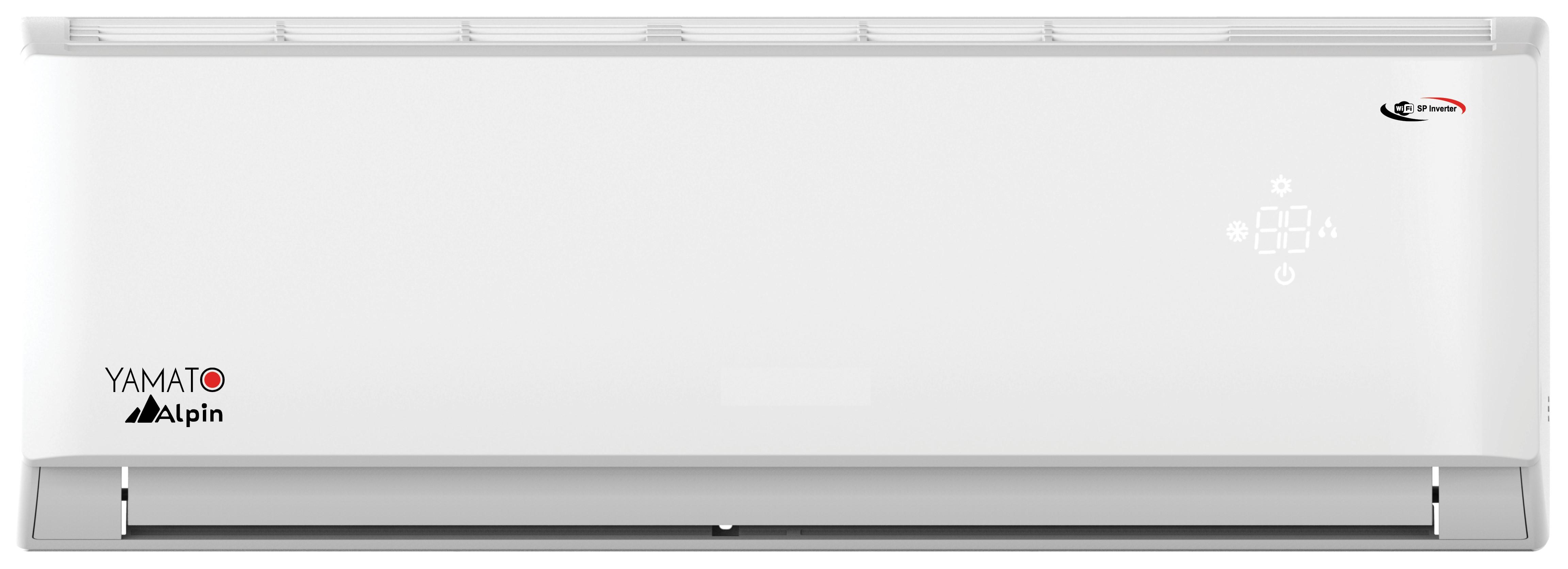 Yamato Alpin Aer conditionat YW12IG5, 12000 BTU, Kit de instalare, Wi-Fi, Alb