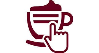 Espresso fierbinte, cafea şi cappuccino cu o singură apăsare de buton